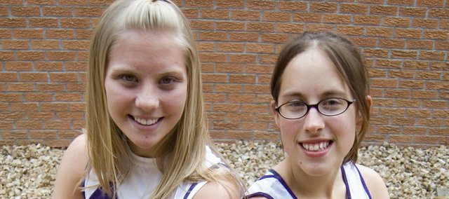 Kasey Campbell and Gelia Gardner, the two seniors on McLouth High's girls track team, hope to lead the squad to success.