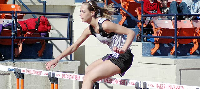 Baldwin High School sophomore Lyndsey Lober won the 100-meter hurdles Friday at the annual Baldwin Invitational track and field meet. Lober helped the BHS girls' team win the meet.