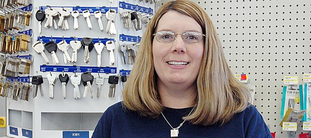 Shelly Buerman, manager of Arrowhead Hardware