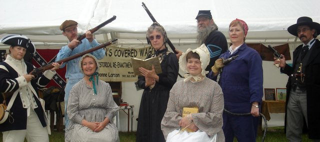 Historic Performers pose during the 2007 Kansas Sampler Festival in Garden City.