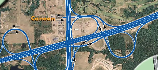 KDOT's plan for the interchange at Interstate 70 and Kansas Highway 7.