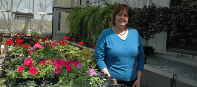Biology teacher Vicki Darr is teaching two horticulture classes this year at Basehor-Linwood High School. The BLHS greenhouse will be the site of a BLHS-hosted plant sale from 3 to 5 p.m., May 5 through May 8.