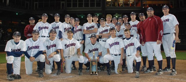 The 2009 Butch Foster Memorial Baseball Classic tournament champion St. James Academy Thunder.