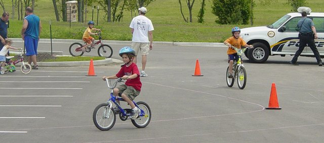The Basehor Police Department is having a bike rodeo to provide community youth with important safety information. Police Chief Lloyd Martley said the event was free and open to anyone who wanted to participate.