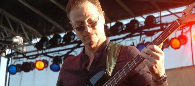 Actor Gary Sinise brought his Lt. Dan Band to Fort Leavenworth on Friday.