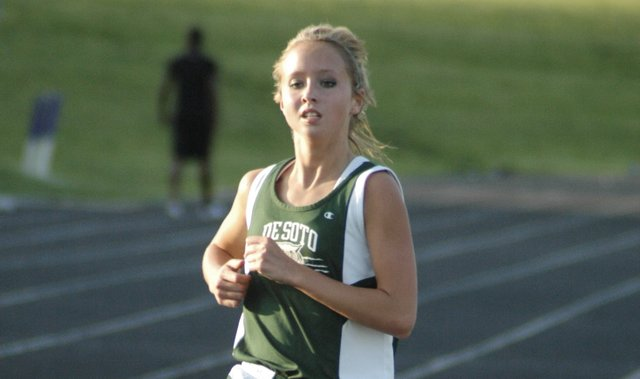 Ellie Sheridan placed fifth in the 1,600-meter run at the Frontier League track meet in Louisburg.