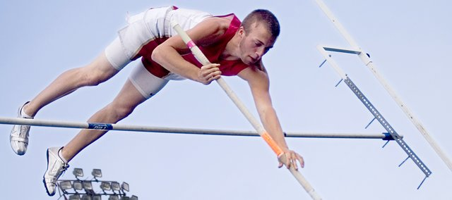Jake Willis finished second in the pole vault at the Hiawatha track regional on Friday to qualify for state. After earning a state berth in his main event, the Tonganoxie High sophomore ran as an alternate in the 4x100 relay race and helped the Chieftains record a new school record. THS finished fourth in the 4x100 to qualify for state.