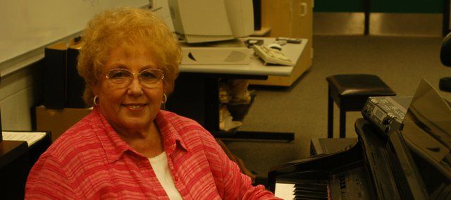 Mary Etta Copeland retired from De Soto USD 232 this school year after 41 years in the district. Copeland will return in a part-time capacity next fall to teach three choral music classes.