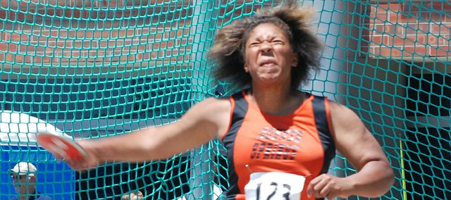 Bonner Springs sophomore Bridgett Bradley finished sixth in the discus at the Class 5A state track meet.