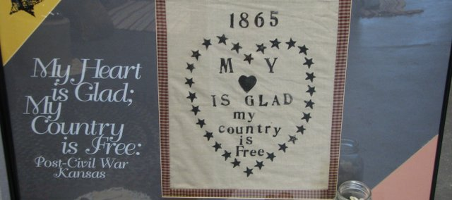 A Kansas quilt contains a patriotic message about the conclusion of the Civil War in 1865. The Basehor Historical museum opened a new exhibit Tuesday that depicts how women contributed to Civil War causes through quilting.