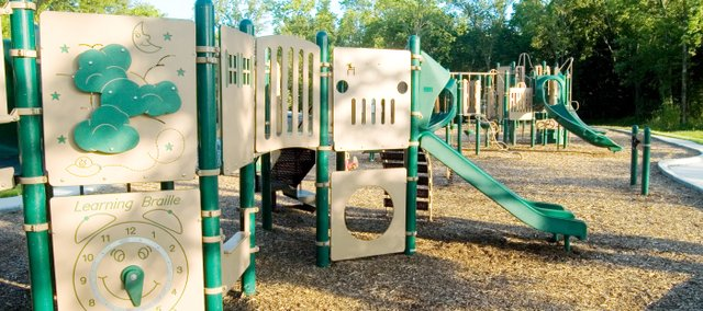 The new King Playground at Rose Park will be dedicated at 7 p.m. on Friday in McLouth