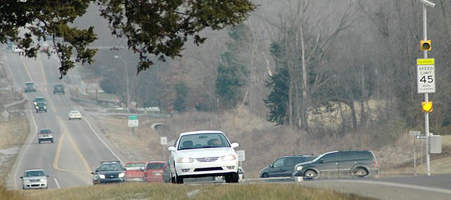 This stretch of U.S. Highway 56, leading west out of Baldwin City, has been a hot topic among city and school officals. The school board discussed the road and the intersection of U.S. 56 and Lawrence Street at Monday's meeting.