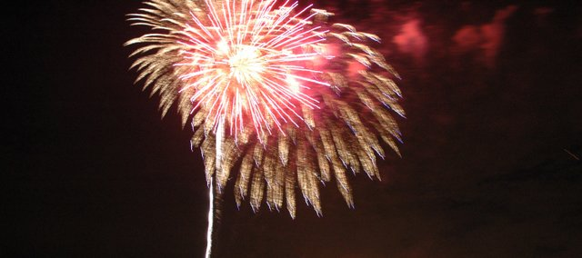 Fireworks light up the sky Saturday during the 2009 Bonner Blast.