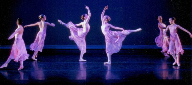 Madison Epp, 14-year-old Bonner Springs resident (fourth from the left) dances in the 2009 spring performance with the Kansas City Youth Ballet Company. Epp, who wants to someday be a professional ballerina, will soon leave for a summer intensive program in New York.