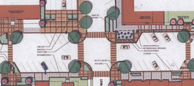 Last Thursday, architect Marty Shukert shared a plan to upgrade downtown streets and sidewalks on 83rd Street from Peoria to Shawnee streets with the De Soto City Council. A focus of the $1.5 million plan would be the Wea Street intersection.