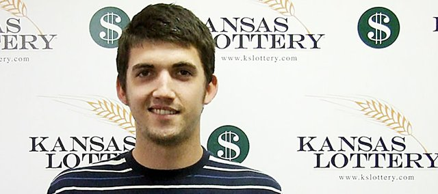 Baldwin City's Zachary Towns won $25,000 on a lottery ticket he purchased Thursday.