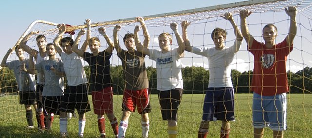 The Tonganoxie High boys soccer team is looking forward to proving it is no longer a pushover in the Kaw Valley League after finishing at the bottom of the standings the past two years. Chieftains seniors are  Bret Koch, Keaton Schaffer, Stan Geyer, Preston Putthoff, Andrew Bouza, Matt Titterington,  Mitch DeHoff, Tyler Woolworth, Kenny Schultz and (not pictured) Brandon Hubbard.