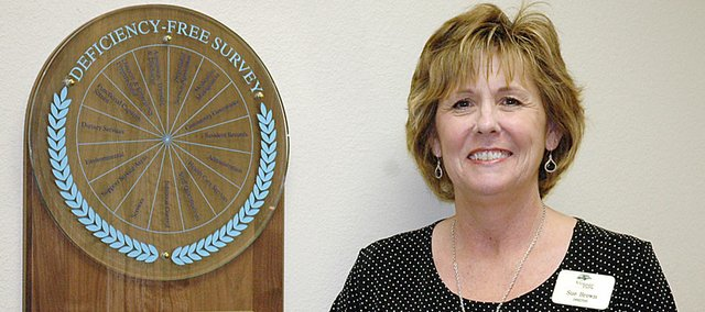 Sue Brown, Vintage Park Assisted Living director, received an award Tuesday.