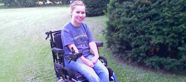 Rachel Taylor, a Bonner Springs High school sophomore, will soon be receiving a wheelchair that fits her needs.