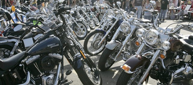 Kobi's Bar and Grill Bike Show, pictured, raised more than $2,000 to benefit Vaughn-Trent Community Services. Now in its 17th year, the event featured a bike judging contest, raffle and silent auction.