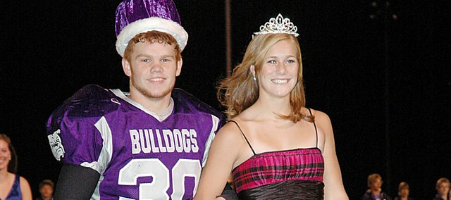 Baldwin High School seniors Sam Foye and Connor Twombly were crowned the 2009 homecoming king and queen Friday night.