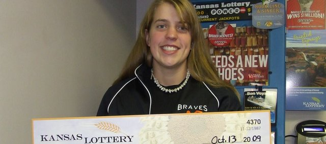 Teran Holter, a 2009 Bonner Springs High School graduate, recently won $10,000 in the Kansas Lottery. The 19-year-old Kansas City, Kan., Community College student got the winning ticket from her parents as a birthday present.