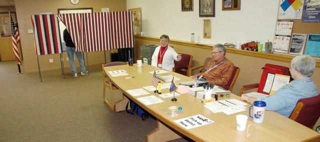 Voters are finding a change at the fire station polling place Tuesday. The polling booths aren't in their normal position behind the desk area, they are to the left. Poll workers say it has caused confusion for everyone, but votes are still being recorded in the sales tax ballot.