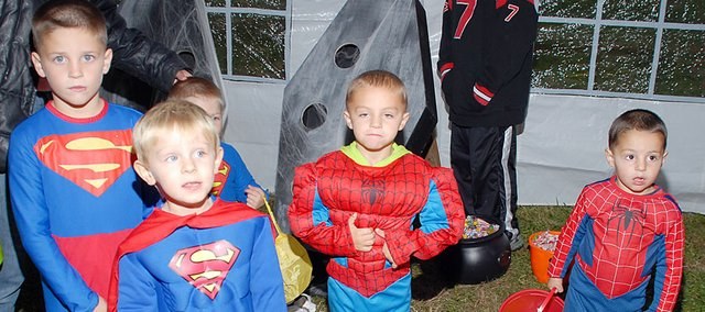 There was a gathering of super heroes at the third annual Cordoba's Charity Haunted House Saturday night. Of course, there were plenty of other costumed characters, too.