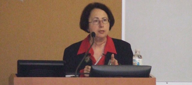 Philadelphia inquirer columnist Trudy Rubin discusses her visit to Pakistan in April and the present struggle between the Taliban and the Pakistani government during the Counter- insurgency Center Leader Workshop at Fort Leavenworth.