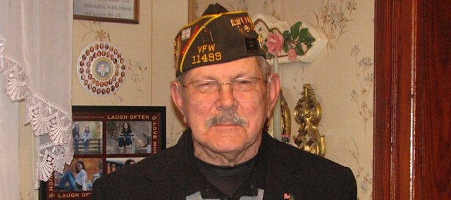 Wilbur Grisham, Basehor, was a medic during World War II. At an Army hospital in Hawaii, he was in charge of admitting and discharging each patient, a task he said was both rewarding and agonizing.