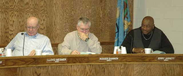 Pictured are, from left, Bonner City Council members Lloyd Mesmer, Rodger Shannon and Jerry Jarrett.
