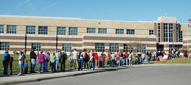 Although initially there was a long line for the H1N1 flu shot clinic Saturday at Baldwin High School, it didn't last long and people were quickly taken care of. There were more than 400 people who received the vaccination.