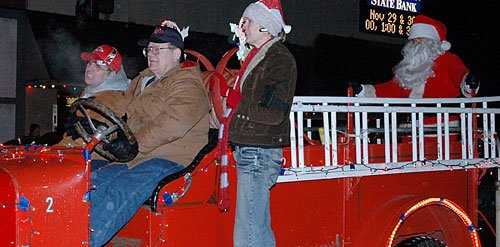Santa Claus will once again be visiting Baldwin City. He will be here Saturday evening for the annual Holiday Light Parade. For more information on the parade, see Wednesday's edition of the Signal.