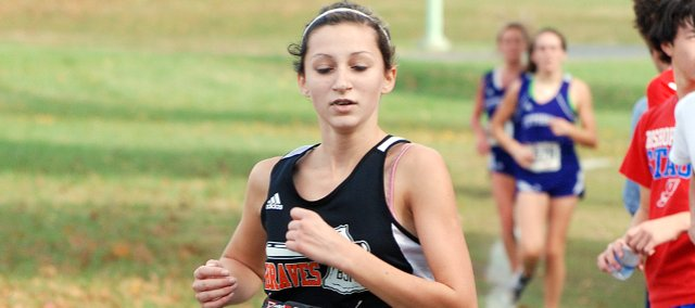 Bonner Springs freshman Mandy Ballou qualified for the Class 5A state championships this season. Her 47th-place finish was the best state finish by a BSHS girl in school history.