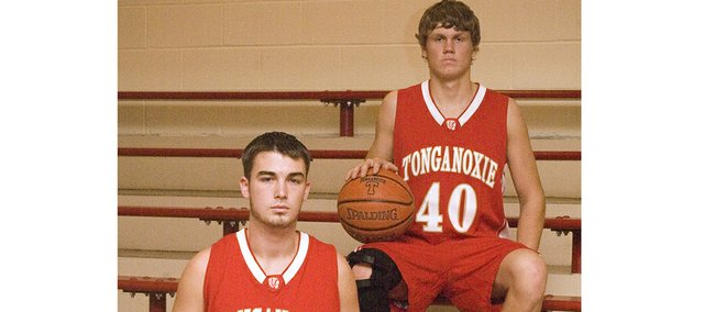 Keaton Schaffer and Justin Jacobs, the two returning seniors on the Tonganoxie High boys basketball team, enter this season feeling good about the Chieftains' prospects.