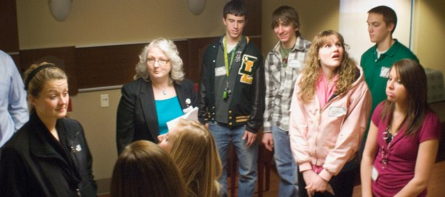 Students from the Basehor-Linwood High School toured the new maternity ward at Cushing Memorial Hospital as part of the Leavenworth County Development Corporations inaugural Classroom-to-Career Day.