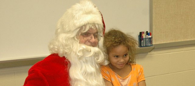 Delaware Ridge Elementary students got the chance to visit with Santa Claus Friday during their classroom Christmas parties. Before Santas arrival, the school sent a permission slip home to parents, asking if their child would be allowed to meet the famous holiday figure.