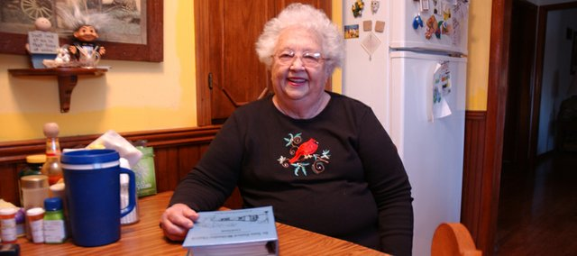 Mary Plummer won't need to consult the De Soto United Methodist Church recipe book to find the ingredients to two of the items that will be on her family's holiday table. The family's noodle and apple dumpling recipes have been handed down through the generations.