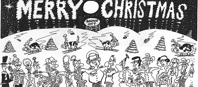 Signal cartoonist Gerard Arantowicz submitted his annual holiday cartoon, wishing everyone a merry Christmas.