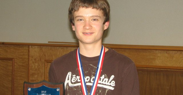 Lansing sixth-grader Graham Forrester is the champion of the Leavenworth County Spelling Bee.