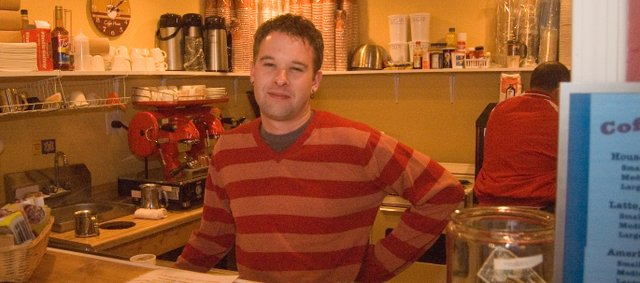 Coffee Depot barista David Howe II is embarking on a business adventure with Tonganoxie High School Principal Jamie Carlisle. Howe and Carlisle decided to open the new coffee shop in Howes mothers downtown store, Vintage Soap and Gifts.