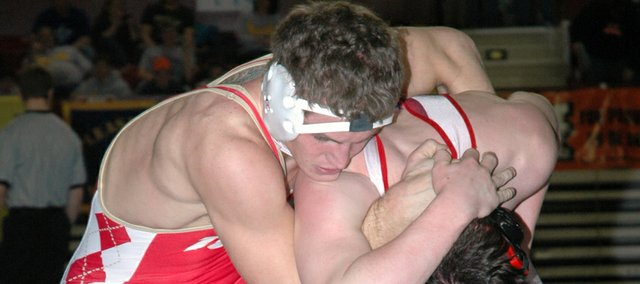 Tonganoxie High senior wrestler Jeremie Maus went 4-2 at the Class 4A state tournament in Salina to finish fifth in the 171-pound weight class.