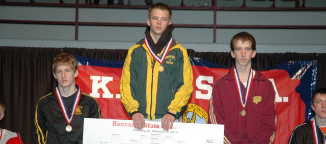 Basehor-Linwood junior Symon Seaton is the Class 4A state champion at 125 pounds.