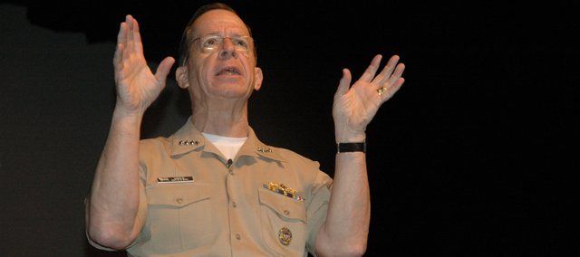 Adm. Mike Mullen, Joint Chiefs of Staff chairman, speaks at Fort Leavenworth about leadership and the Dont Ask, Dont Tell policy.