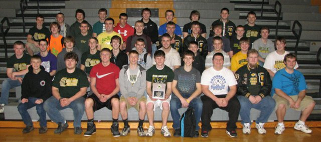 The 2010 Class 4A powerlifting state champion Basehor-Linwood boys.