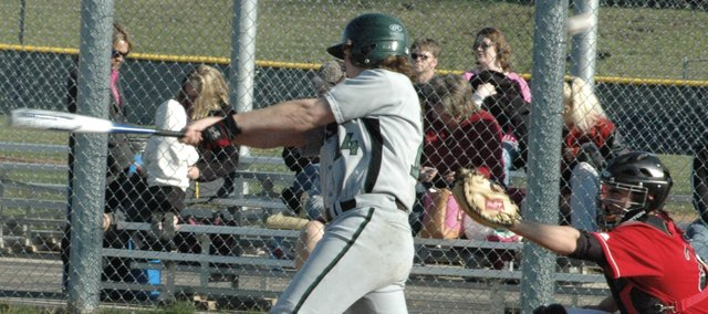 Lyle Logan turns on a pitch during a game last season. Logan, senior, should provide the Wildcats with solid production in the middle of the lineup this year.