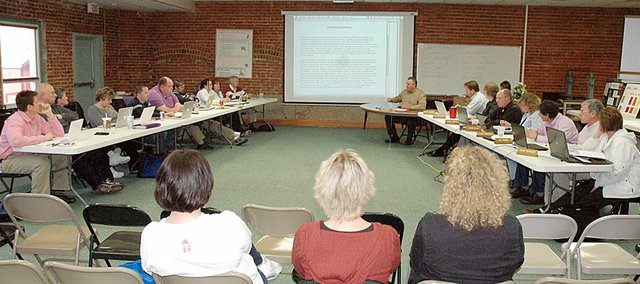 On Monday night, the Baldwin School Board held a work session with the fact-finding committee. The two groups discussed the information in the committee&#39;s 205-page report.