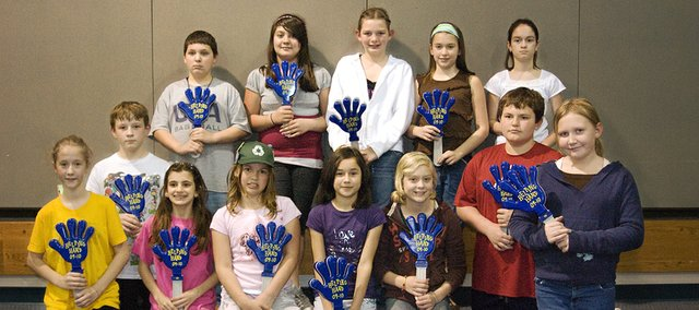 Fourteen students from Starside Elementary were honored Tuesday for completing 50 hours of community service.