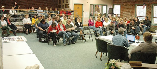 There was a big crowd -- around 100 people -- at Thursday's public input meeting put on by the Baldwin School Board to hear what patrons have to say about possible budget cuts. The school board also meets Monday for its regular meeting at 6:30 p.m. where public comments will be taken. The board also has another public input session scheduled for April 20 at 6:30 p.m. All meetings are in the District Office.