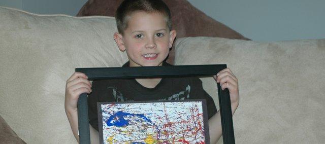 Clear Creek Elementary kindergartner Caleb Schmitz was named artist of the week by Artsonia, an online museum. Caleb received a $50 gift card.